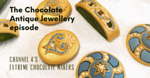 painted chocolate jewellery extremely chocolate maker's text